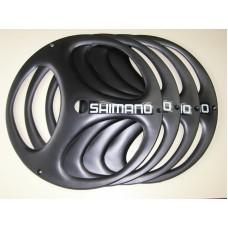 tapa de rueda r.26 shimano negra x 4