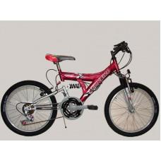 bicicleta t.t. r.20 doble susp. 18/v    *<