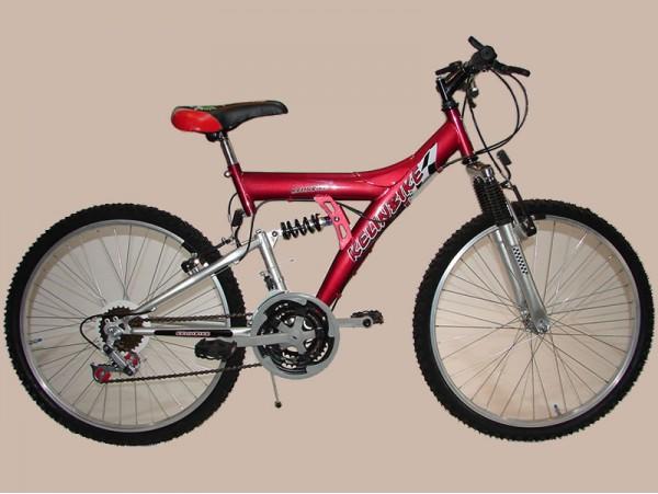 bicicleta t.t. r.24 doble susp. 18/v    *<