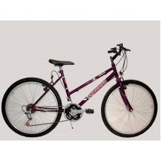 bicicleta t.t. r.26 dama 18/vel      d  *<